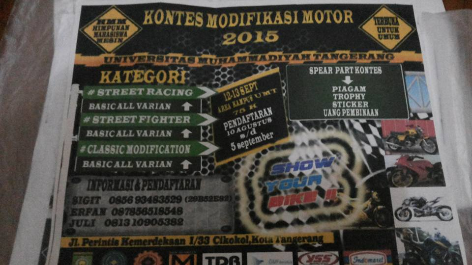 Kontes Modifikasi Motor UMT 5 September 2015